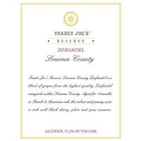 Trader Joe's Zinfandel Reserve 2007